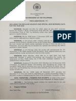Proclamation No. 845