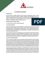 Costos de La Mano de Obra en Colombia Costos IV