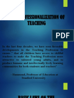 professionalization of teaching