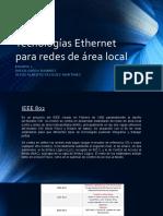 Tecnologías Ethernet