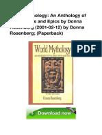 World Mythology an Anthology of Great My