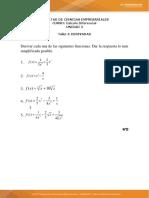 Taller 4 derivadas