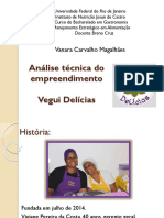Análise técnica do empreendimento gastronômico
