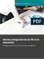 Informe (Integración de Las TIC en La Educación)