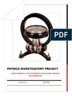 Physics Investigatory Project Earth Magn