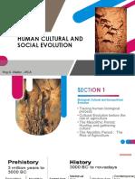 Human Cultural and Social Evolution