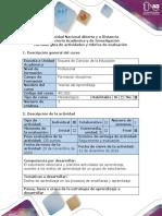Guia de Actividades y Rubrica de Evaluación - Evaluación Final - Planificación de Capacitación Docente