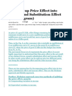 Breaking Up Price Effect Into Income and Substitution Effect