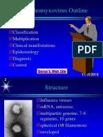 Lect. 4 Orthomyxoviruses