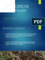 Proceso de Refinacion de Aceite de Palma