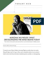 Mukoma Wa Ngugi- What Decolonizing the Mind Means Today Literary Hub