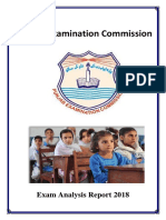 Pec Exam Analysis Report 2018
