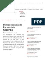 Independencia de Panamá de Colombia(1)
