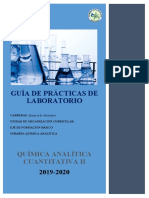 Guía de laboratorio de Química Analítica Cuantitativa II