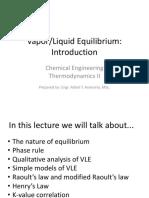 Vapor-Liquid Equilibria