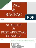 BACPAC & SUPAC