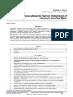 Snaa284a TI Analog Electronics Design to Improve Performance of Ultrasonic Gas Flow Meter