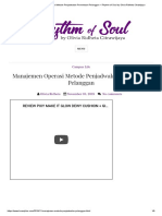Manajemen Operasi Metode Penjadwalan Permintaan Pelanggan _ Rhythm of Soul by Olivia Ridheta Citrawijaya
