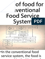 Flow of Food for Conventional Food Service System