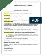 2.4 Efectos Terapéuticos,Secundarios y Adversos de Los Fármacos