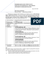 JRF SRF ADVT and Application Form