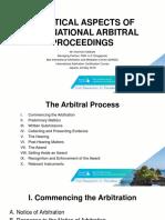 Practical Aspects of International Arbitral Proceedings