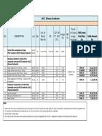 ACCC Silvassa Conductor-Bill of Quantities