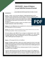 Zad-Al-mustaqni-chap.05-Les Actes Obligatoires Des Petites Ablutions Et Leurs Descriptions