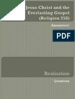 Jesus Christ and the Everlasting Gospel - Assessment