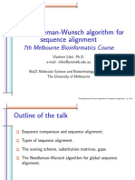 The Needleman Wunsch algorithm for sequence alignment