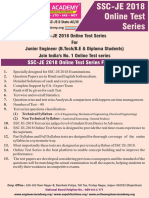 SSC-JE 2018 Online Test Series PDF