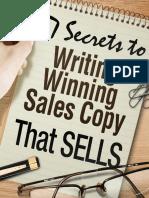 7 secrets to writing a winning sales copy that sells
