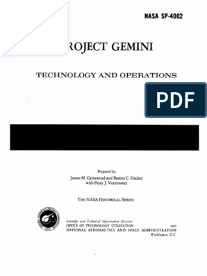 Project Gemini Technology and Operations - A Chronology