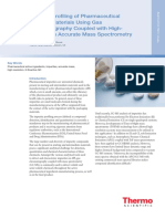 GC MS Impurity Profiling Pharma Starting Material