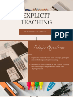 Explicit Teaching by Anne