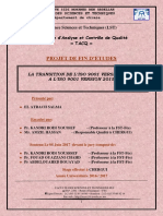 La Transition de l'ISO 9001