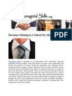 Decision Making is Critical for Managers.docx