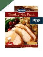 Mr Food Thanksgiving Feasts Free eCookbook 2010