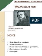 Leon Walras Historia Del Pensamiento Económico. PWPT