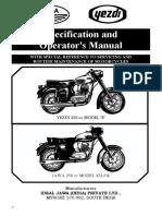 Jawa 353 Yezdi B Model Owners Handbook