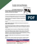 Obligaciones Tributarias Relacionadas Con Los Libros Contables