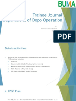 Trainee Journal Department of Depo Operation