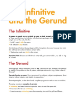 Infinitive and the Gerund