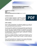 Muestra de Informe Del 16PF