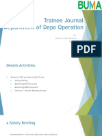 Trainee Journal Department of Depo Operation 2