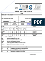 Enviornment impact aspect register matrix