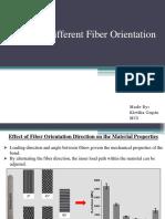 Effect of Different Fiber Orientation