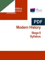 Modern History Stage 6 Syllabus 2017