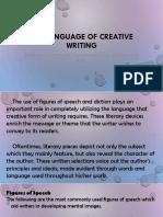 Languageof creative writing