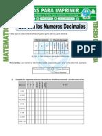 Ficha Que Son Los Numeros Decimales Para Tercero de Primaria